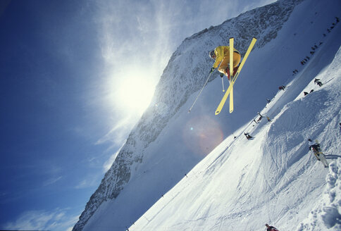 Man skiing, low angle view - 00013FF