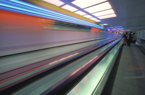 Munich, airport center (blurred motion) - 00004MB