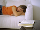 Woman lying on sofa - DK00040