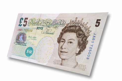 Britisch currency five British Pound - 01609CS-U