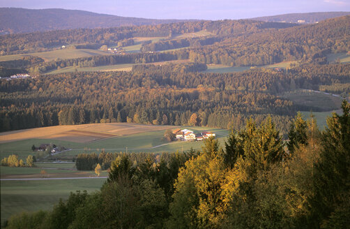 Countryside, near Freyung, Bavarian Forest, Germany, high angle view - HSF00961