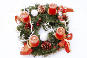 Candles in Advent wreath, elevated view - 02419CS-U