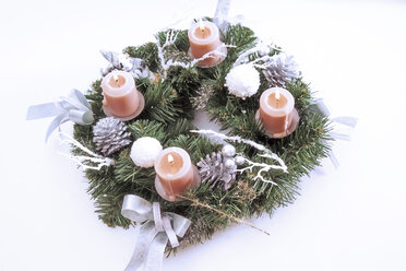 Candles in advent wreath, elevated view - 02416CS-U