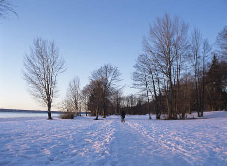 Man walking on winter landscape - PEF00442