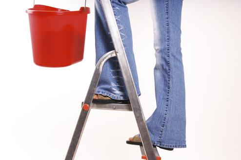 Woman standing on ladder - 00028LRH-U