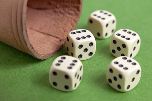 Dice with box, close-up - THF00180