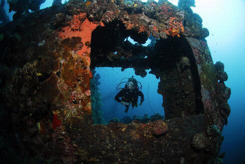 Philippines, Buruanga Island, ship wrack from Word War II - GNF00773