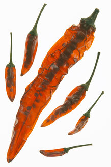 Dried chilies, close-up - THF00294