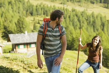 Young couple in mountains - BABF00176
