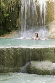 Italy, San Fillipo, woman in water - MRF00759