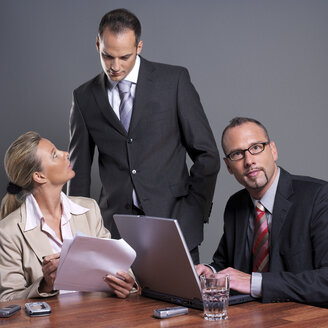 Business people at conference table - JLF00243