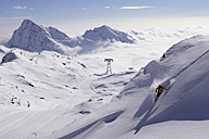 Italy, Gressoney, skiier - FFF00697