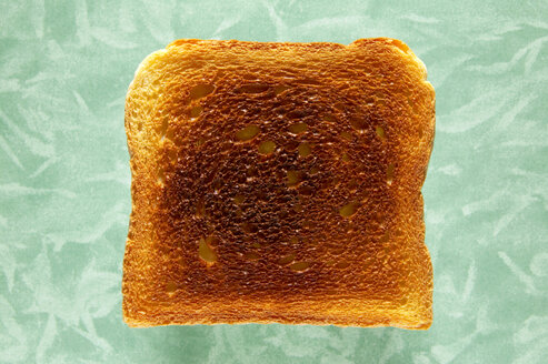 Slice of toast, close-up, elevated view - THF00376