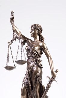 Justitia figur, close-up - NHF00277