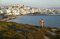 Greece, Naxos, jogging on the coast - MRF00856