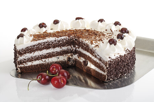 Black Forest Cake and fresh cherries - 06757CS-U