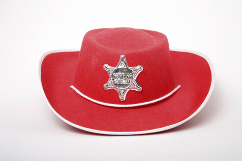 Red cowboy hat, close-up - TCF00058