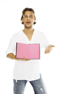 Man holding diary, close-up - PKF00111