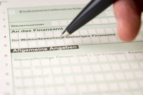 Tax Form, close-up - NH00570