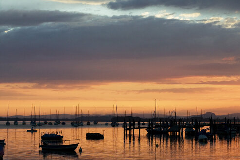 Germany,Allensbach, Lake Constance at sunset - CKF00182