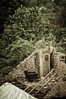 Germany, Pforzheim, Empty house in the forest - DW00105