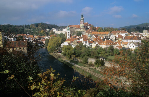 Czech Republic, view to Castle Cesky Krumlov - HS01013