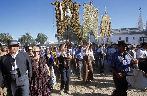 Spain, Andalusia, El Rocio, pilgrimage - HS01004