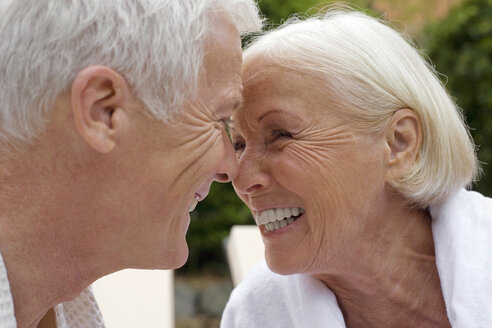 Germany, senior couple, face to face, portrait - BABF00377