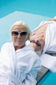 Germany, Senior Couple relaxing - BABF00251