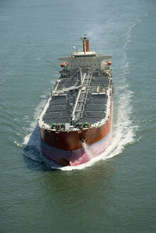 Overhead view of tanker ship - NHF00678