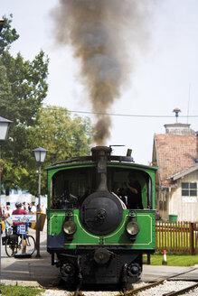 Germany, Bavaria, Chiemsee, Steam engine at Chiemsee - 07915CS-U