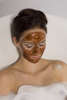 Portrait of a young woman with a facial mask - RRF00026