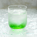 Mixed drink with water and mint, close-up - CHK00898