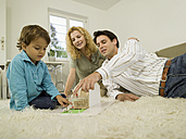 Young family in living room - WESTF06656