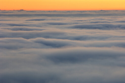 Banks of fog with sunset and horizon - SMF00305