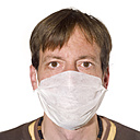 Man wearing a Surgical Mask, portrait - MU00145