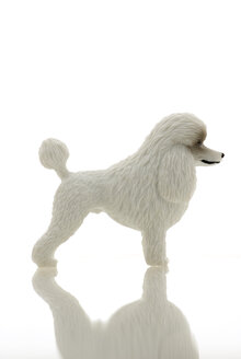 Plastic Figurine of a poodle - MU00346