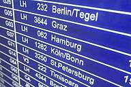 Flight departures monitor at airport - THF00760