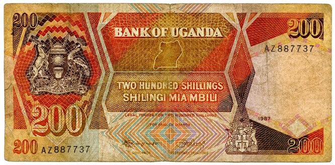 Banknote, Uganda Shilling, close-up - TH00754
