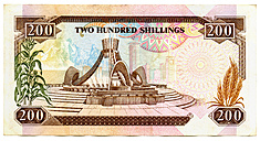 Banknote, Kenya Shilling, close-up - TH00745