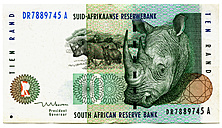 Ten-rand-banknote, South Africa - TH00739
