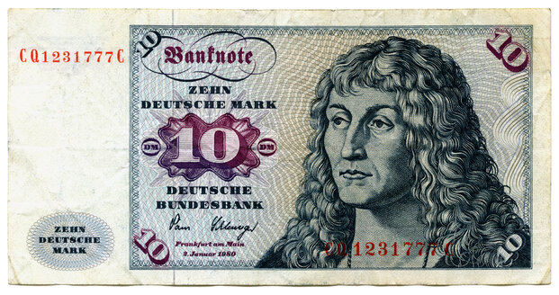 Banknote, deutschmark, close-up - TH00736