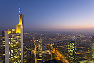 Germany, Frankfurt on the Main, Citiscape, skyscrapers at night - WD00112