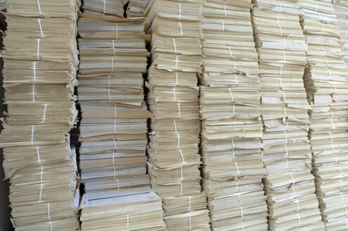 Stacks of paper, close up - CRF01416