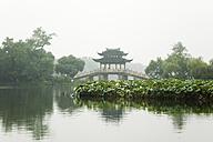 China, Hangzhou, Pavilion on West Lake - GW00751