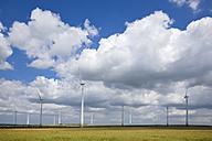 Germany, Saxony-Anhalt, Wind turbines in field - FOF00766