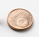 1 Euro Cent, close-up - KSWF00131