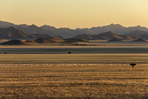 Africa, Namibia, Sunrise, Tiras Mountains and Namib Desert - FOF00829