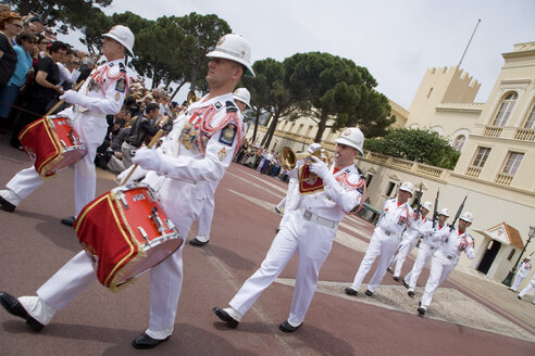 Monaco, Changing of the guard in front of Prince's Palace - WD00172