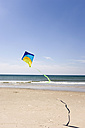Germany, Baltic sea, Kite flying on beach - WESTF09217